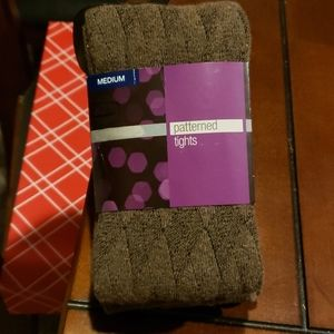 BNWT Diamond Pattern Wool Winter Tights M